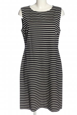 Daniel Hechter Midi Dress black-white striped pattern casual look