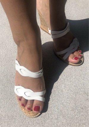 Daniel Hechter | Damen Sandalen mit Keilabsatz (Größe 38) | weiß