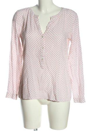 Daniel Hechter Hemd-Bluse weiß-pink Allover-Druck Casual-Look