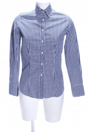 Daniel Hechter Hemd-Bluse blau-weiß Karomuster Business-Look