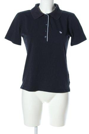 Daniel Hechter Jeans Polo-Shirt schwarz-weiß Casual-Look