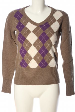 Daniel Hechter Jeans V-Neck Sweater check pattern casual look