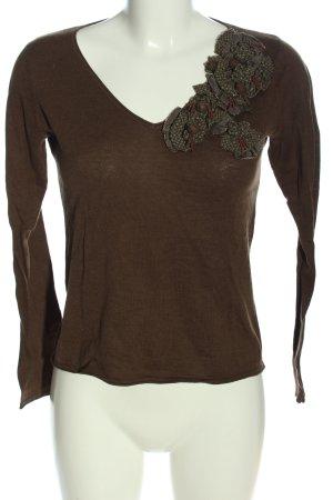 Daniel Hechter Long Sleeve Blouse brown casual look