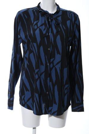 Daniel Hechter Langarm-Bluse blau-schwarz Casual-Look