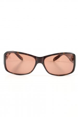 Daniel Hechter ovale Sonnenbrille braun-hellorange Allover-Druck Casual-Look