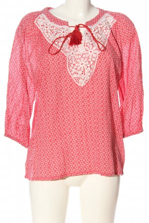 Daniel Hechter Slip-over Blouse red-white allover print casual look