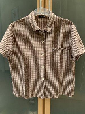 Daniel Hechter Short Sleeved Blouse brown-white cotton