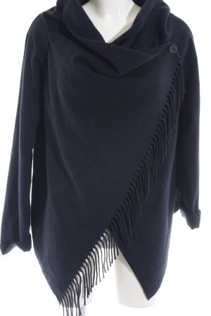 Daniel Hechter Knitted Poncho dark blue casual look