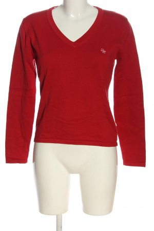 Daniel Hechter V-Neck Sweater red casual look