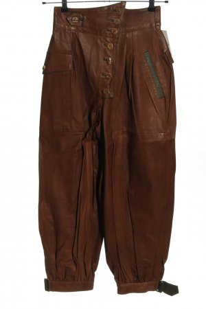 Daniel Leder Atelier München Pantalón de cuero tradicional marrón