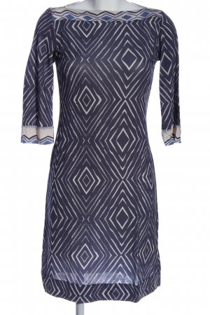 Daniel & Mayer Longsleeve Dress blue-white abstract pattern casual look
