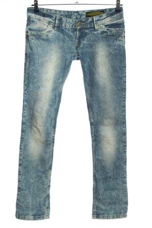 Daniel Stern Jeansy biodrówki niebieski W stylu casual