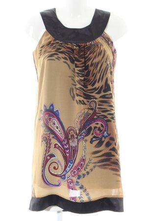 Daniel Stern Pinafore dress black-brown animal pattern casual look
