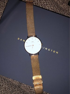 Daniel Wellington Watch With Metal Strap gold-colored