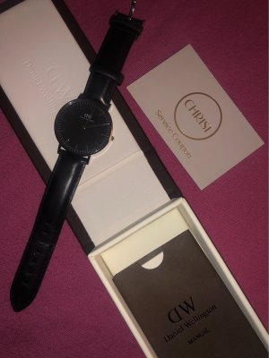 Daniel Wellington Reloj con pulsera de cuero negro