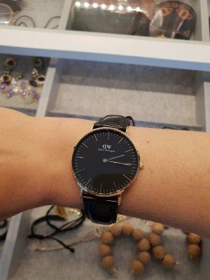 Daniel Wellington Horloge met lederen riempje zwart-goud