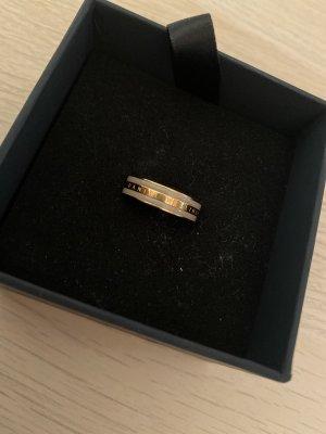 Daniel Wellington Srebrny pierścionek jasnobeżowy-w kolorze różowego złota