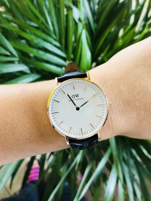 Daniel Wellington Watch With Leather Strap rose-gold-coloured-brown