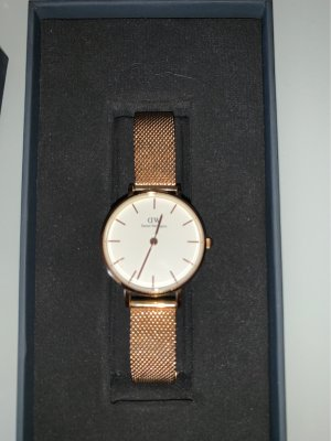 Daniel Wellington Watch With Metal Strap pink-gold-colored