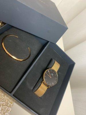 Daniel Wellington Horloge met metalen riempje zwart-goud