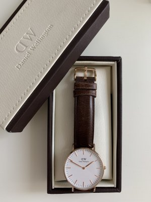 Daniel Wellington Watch With Leather Strap bronze-colored-taupe
