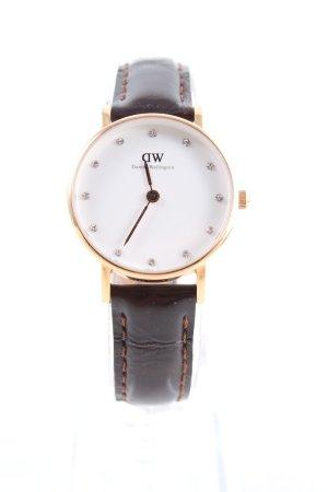 Daniel Wellington Uhr mit Lederarmband mehrfarbig Business-Look
