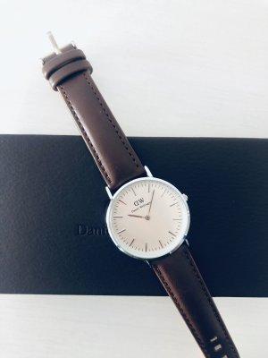 Daniel Wellington Reloj con pulsera de cuero multicolor