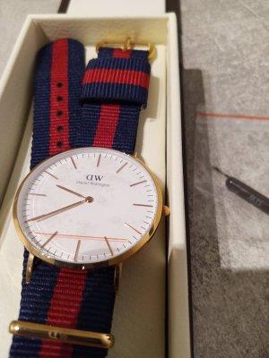 Daniel Wellington Uhr rot blau gold