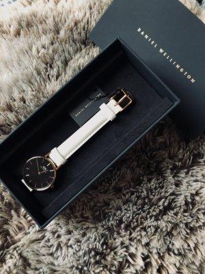 Daniel Wellington Zegarek ze skórzanym paskiem biały-złoto