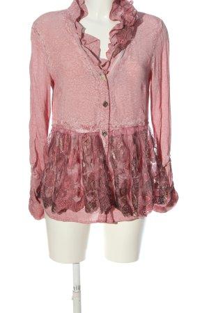 Daniela Dalla Valle Veste chemisier blanc cassé-rose motif abstrait