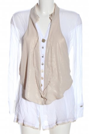 Daniela Dalla Valle Camicetta a maniche lunghe bianco-crema stile professionale