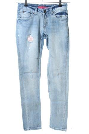 Ladystar by daniela katzenberger Jeans vita bassa blu stile casual