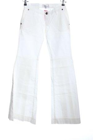 Daniele Alessandrini Denim Flares white casual look