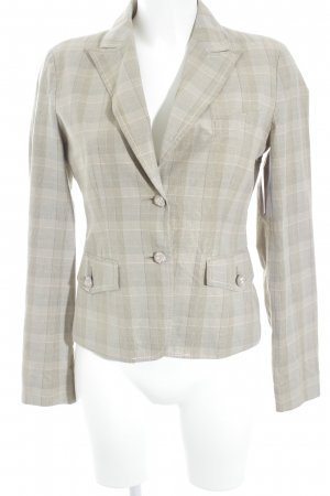 Daniele Alessandrini Short Blazer camel-light pink check pattern business style