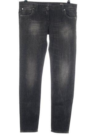 Daniele Alessandrini Straight Leg Jeans black casual look