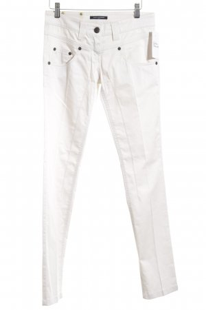 Daniele Alessandrini Stretch Trousers natural white simple style