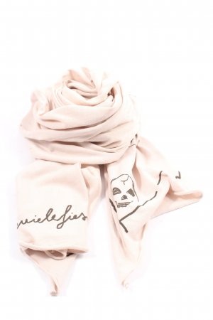 Daniele Fiesoli Summer Scarf natural white-black themed print casual look