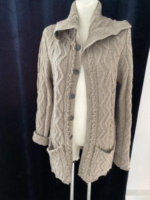 Daniele Fiesoli Manteau en tricot gris brun-beige