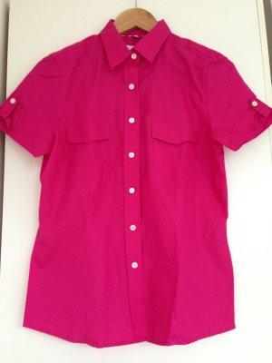 Daniels & Korff Bluse, pink, kurzer Arm, Gr.38