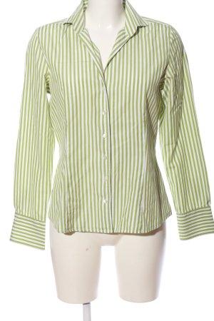 Daniels & Korff Hemd-Bluse weiß-grün Streifenmuster Business-Look