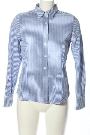 Daniels & Korff Langarmhemd blau-weiß Streifenmuster Business-Look
