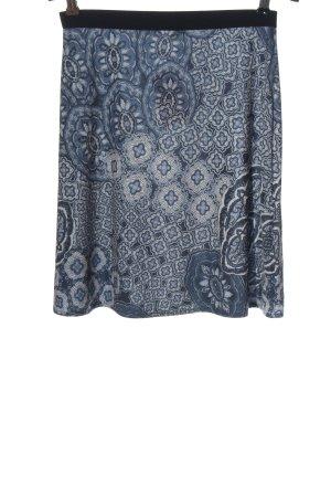 DANIELS Mini-jupe bleu-blanc imprimé allover style décontracté