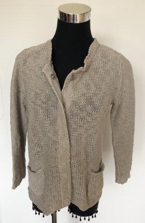 DANIELS Veste en tricot gris brun