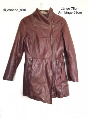 Danier Leather Coat bordeaux leather