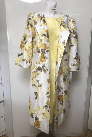 Danillo Stefani Damen Kleid + Mantel Blumen Floral Pink 44 (14W) gelb