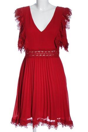 Danity Robe de cocktail rouge élégant