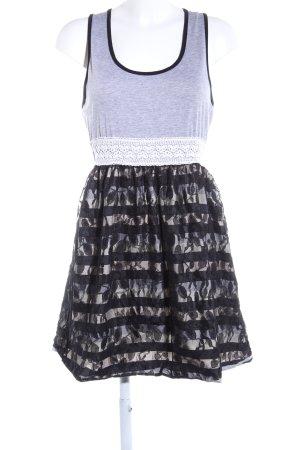Danity Jerseykleid hellgrau-schwarz meliert Elegant