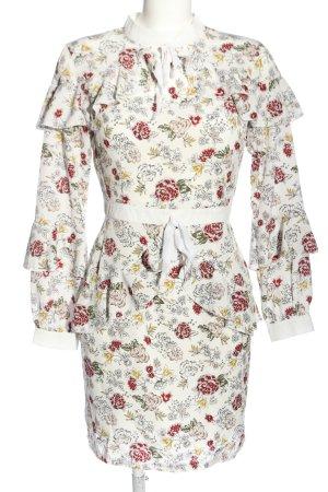Danity Langarmkleid Blumenmuster Casual-Look