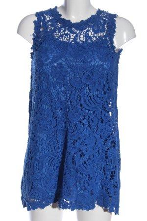 Danity Long-Bluse blau Casual-Look