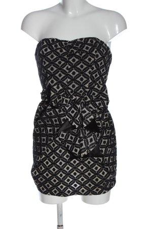 Danity Mini Dress black-white mixed pattern party style